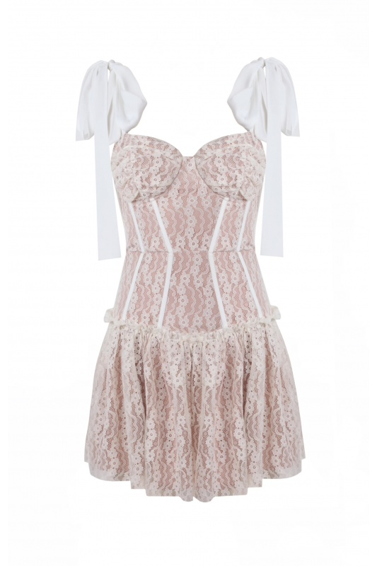 Bella White Lace Dress