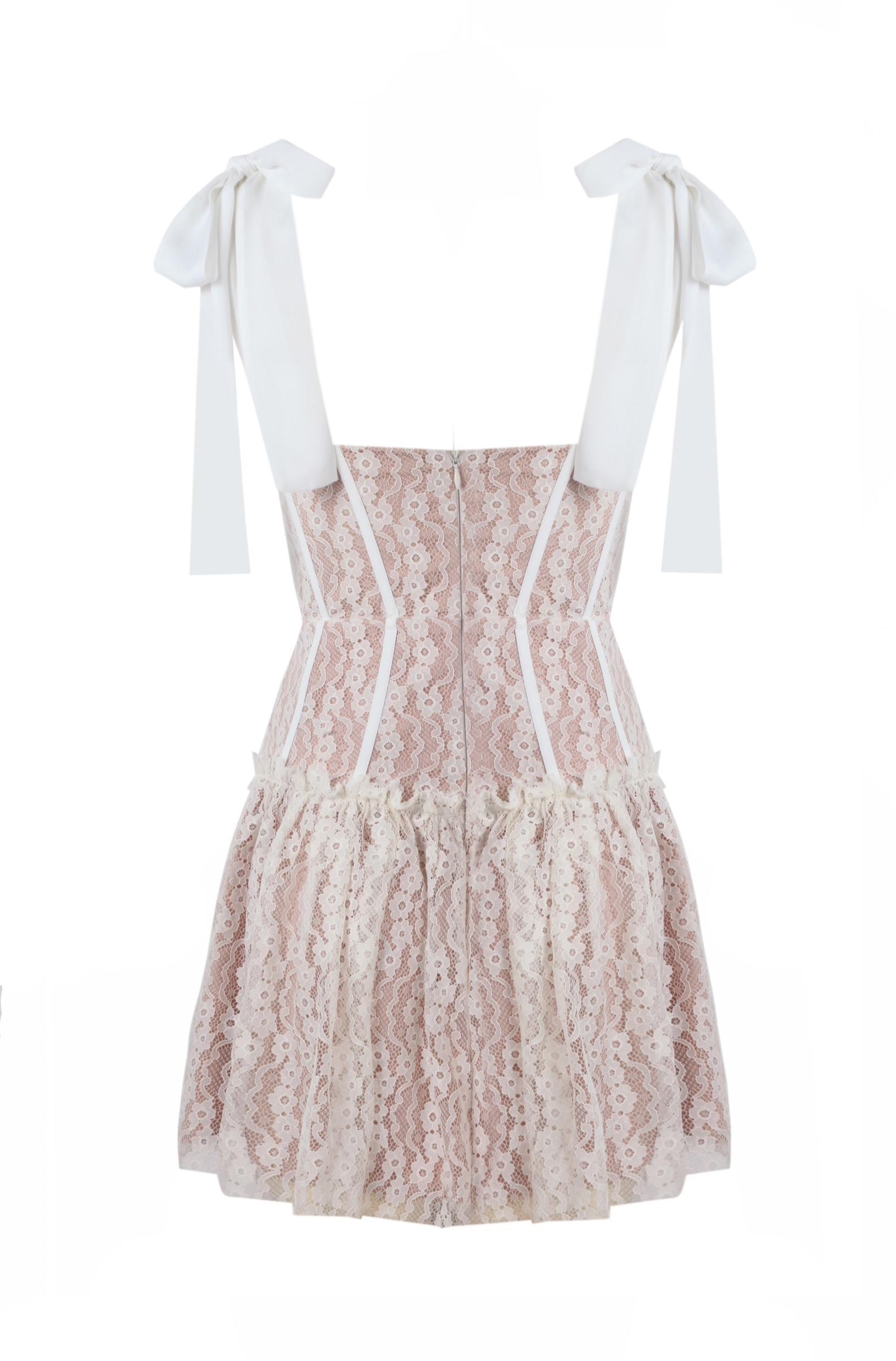 Bella White Lace Dress